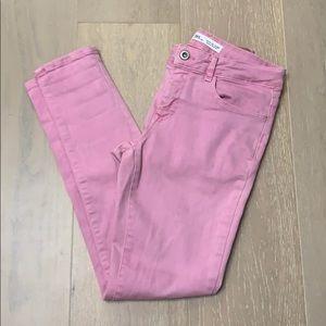 Zara pink stretch jeans
